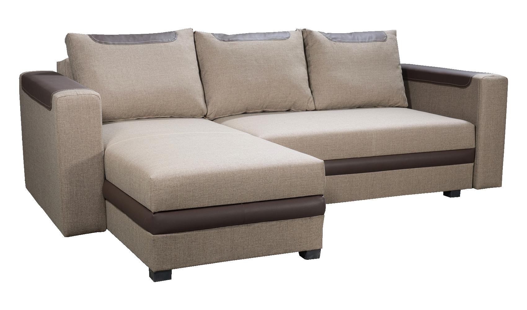 Rohová sedací souprava - Po-Sed - Bono (světle hnědá + hnědá) (L)