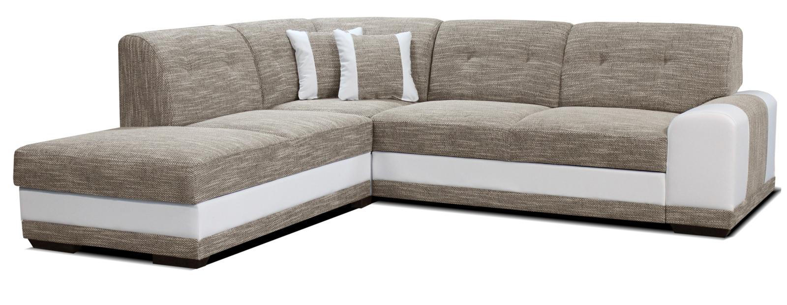 Rohová sedací souprava - Po-Sed - Bella Lux L+2F (béžová + bílá) (L)