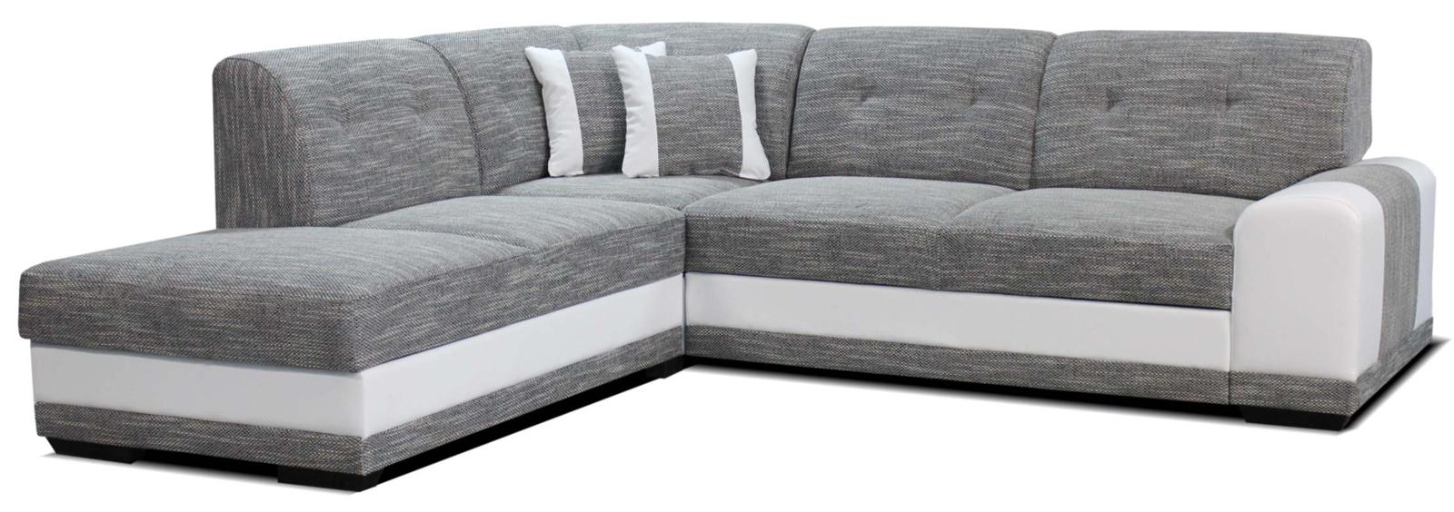 Rohová sedací souprava - Po-Sed - Bella Lux L+2F (šedá + bílá) (L)