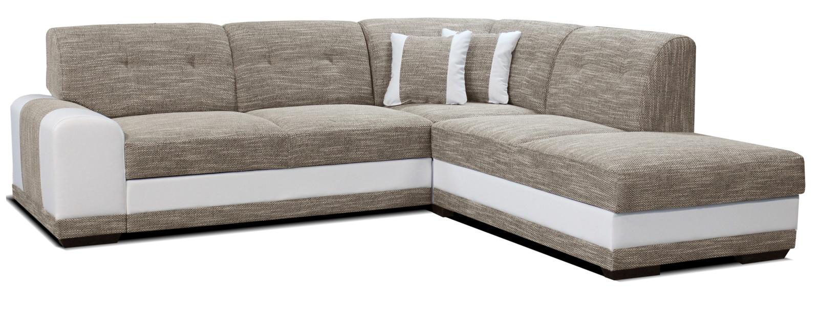 Rohová sedací souprava - Po-Sed - Bella Lux 2F+L (béžová + bílá) (P)