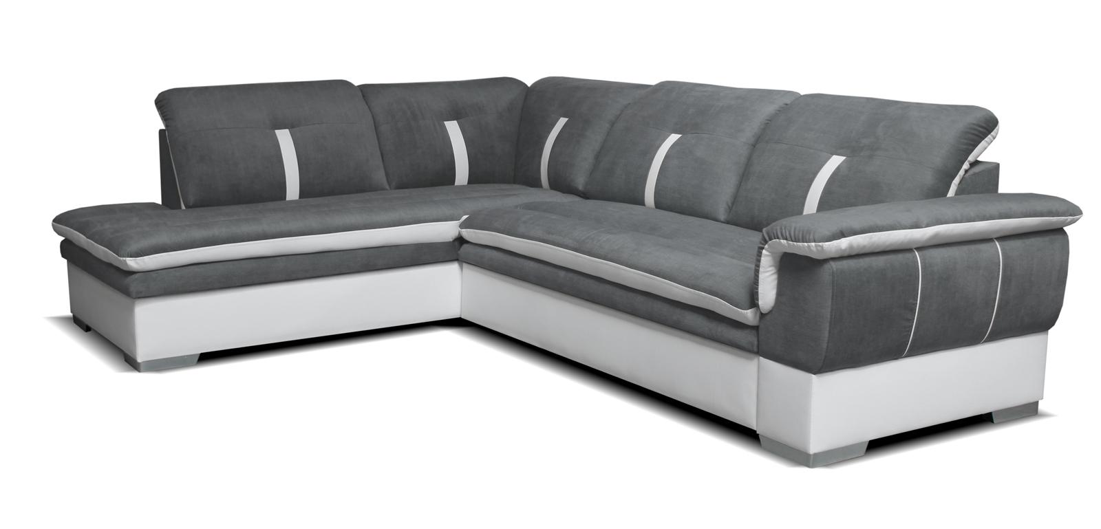 Rohová sedací souprava - Po-Sed - Galaxy L+2F (šedá + bílá) (L)