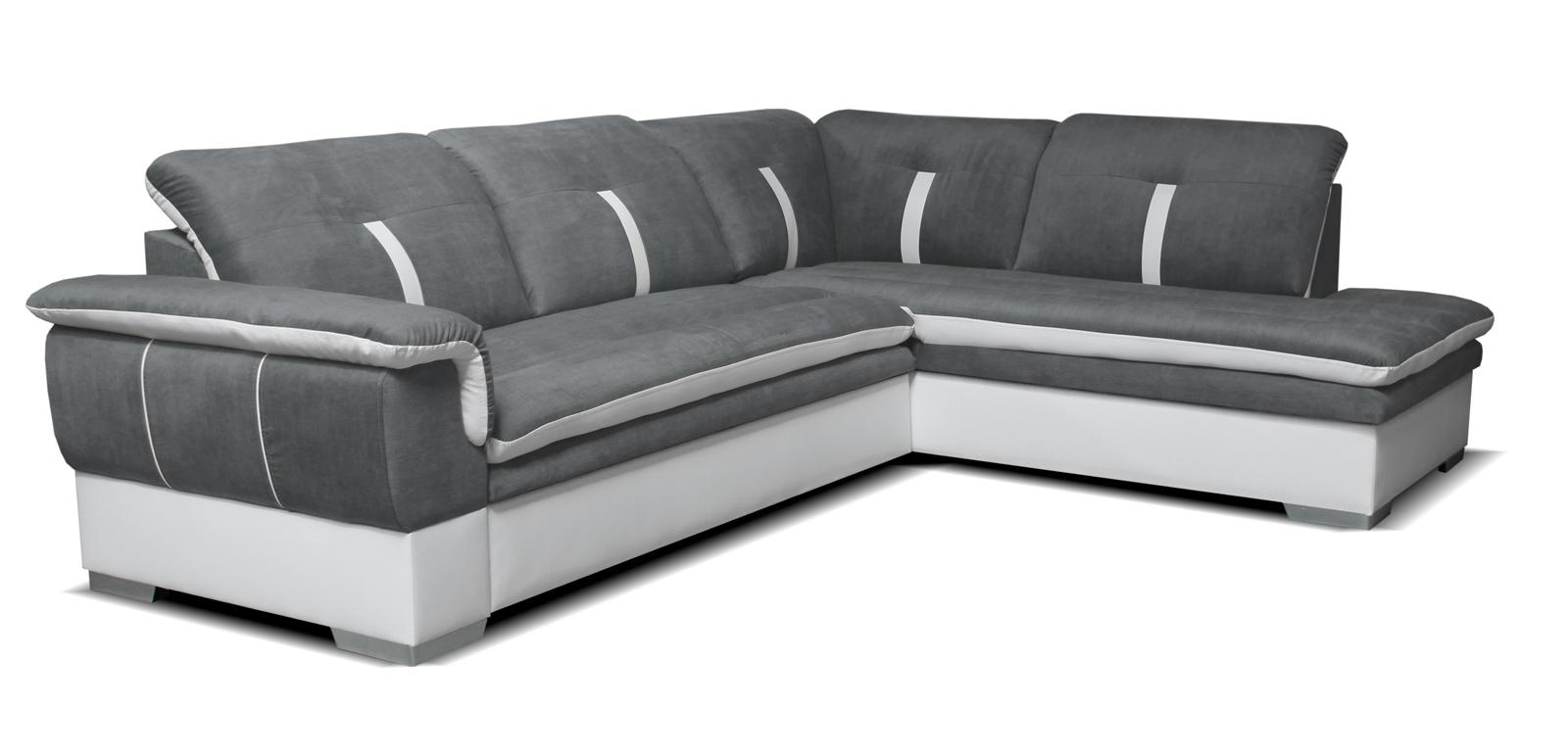 Rohová sedací souprava - Po-Sed - Galaxy 2F+L (šedá + bílá) (P)