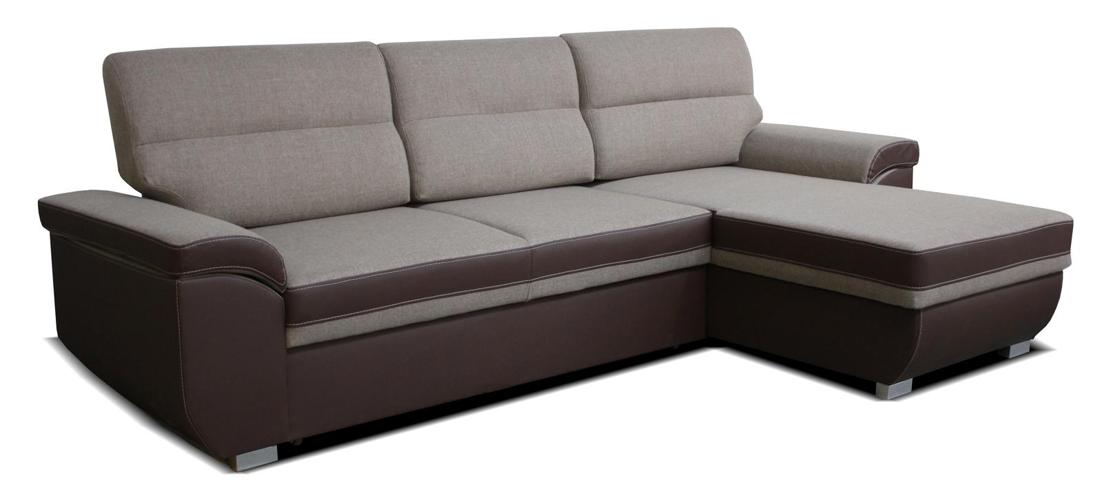 Rohová sedací souprava - Po-Sed - Lucan 2F+L (béžová + hnědá) (P)