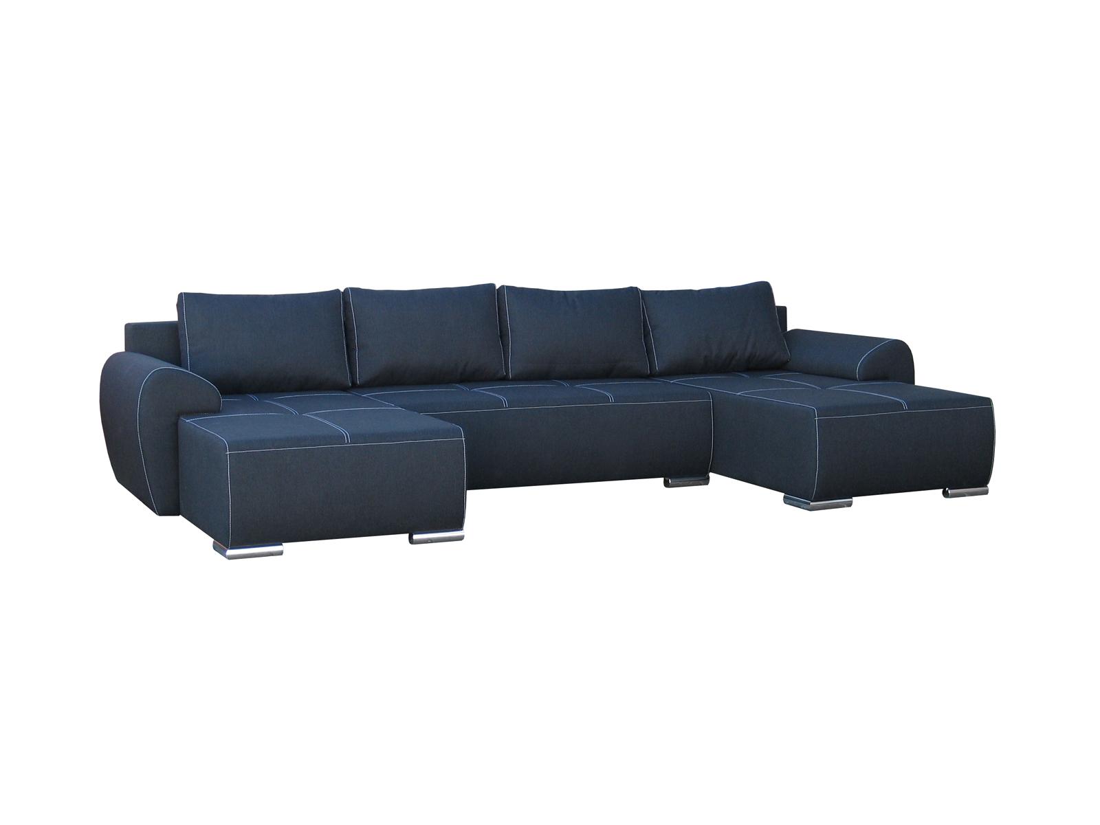 Rohová sedací souprava U - Po-Sed - Lucy U (modrá) (L)