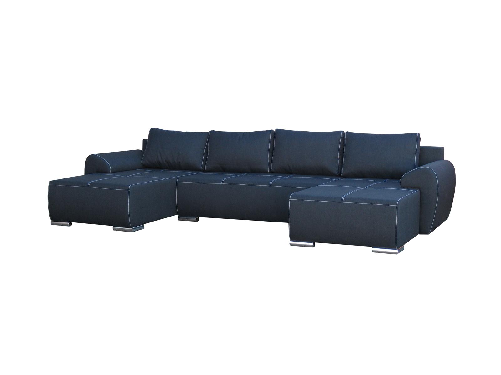 Rohová sedací souprava U - Po-Sed - Lucy U (modrá) (P)