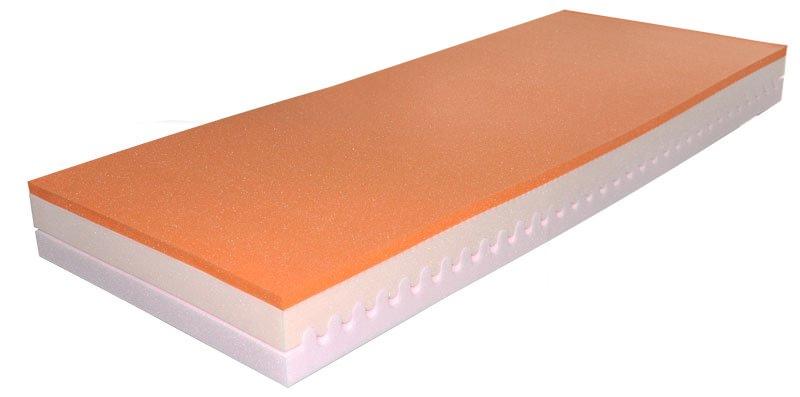 Pěnová matrace - Styler - SALOME - 200x80 cm (T3). Komfortní a luxusní matrace z paměťové pěny, se snímatelným a pratelným potahem a sedmizónovou profilací.