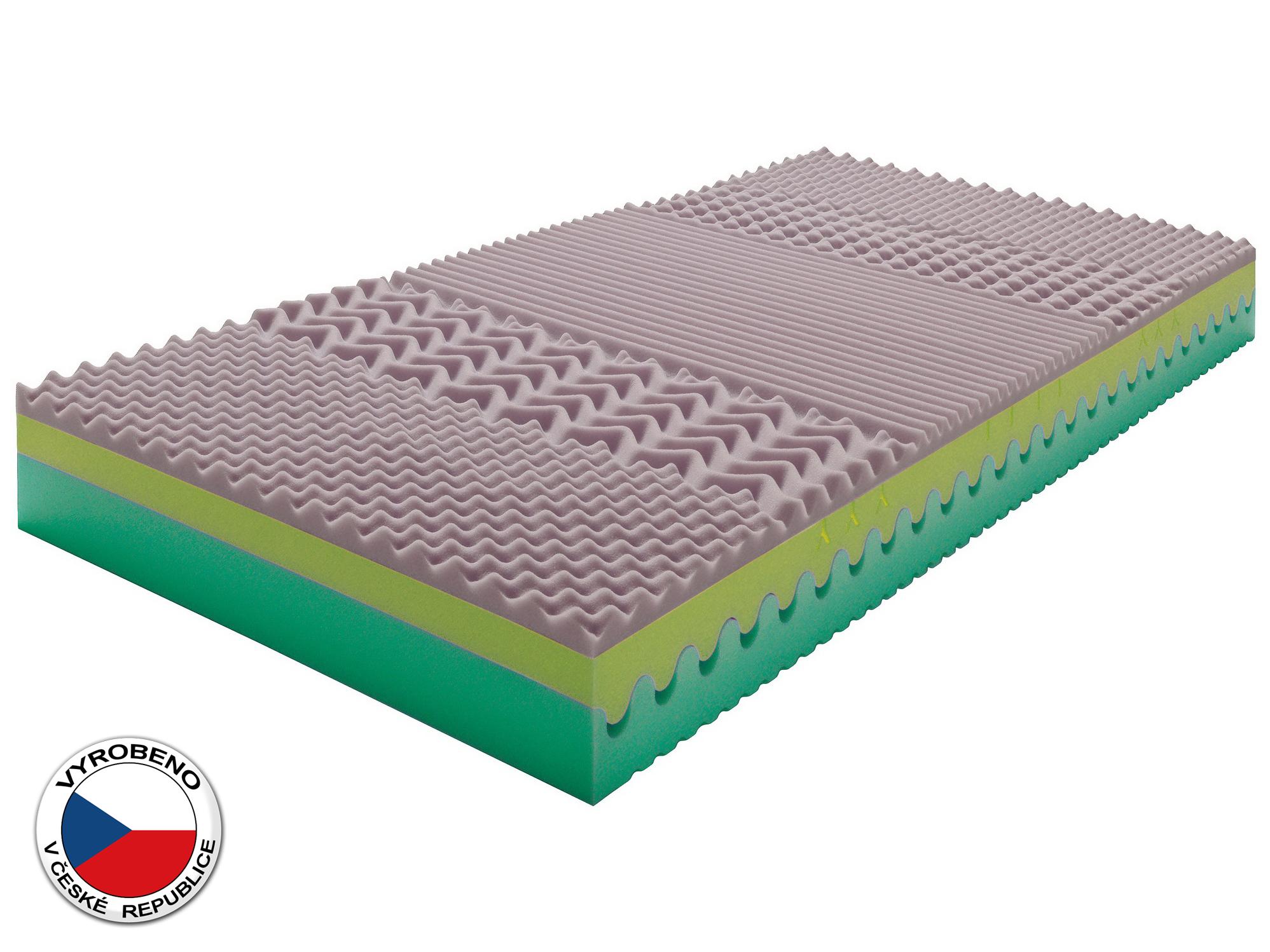 Pěnová matrace - Purtex - Sarah Bio Greenfirst - 200x80 cm (T3). Elastická, oboustranní odolná matrace s dlouhou životností, pět zónovou profilací, která zajišťuje uvolnění svalstva během spánku a s dopravou zdarma.