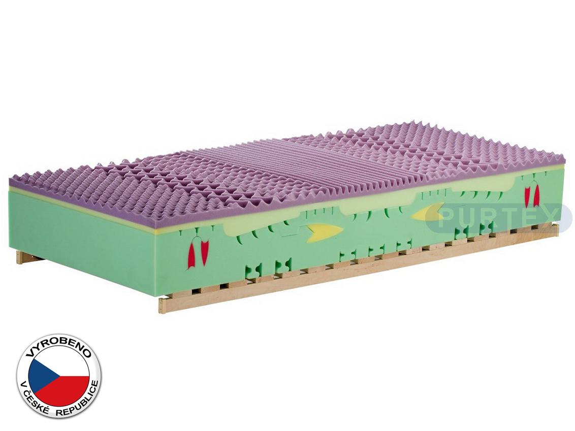 Pěnová matrace - Purtex - Charlotte Bio - 200x90 cm (T3). Luxusní a výhodná zdravotní matrace se snímatelným potahem, speciální BIO pěnou a antialergickým jádrem, které poskytuje 100% ochranu proti roztočům.
