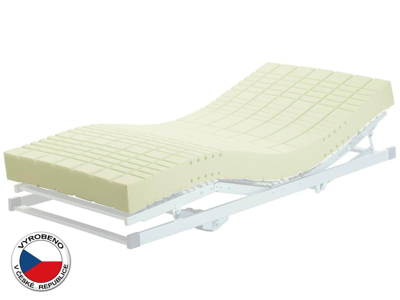 Pěnová matrace - Purtex - Lucy - 195x80 cm (T4). Luxusní a výhodná zdravotní matrace se snímatelným potahem, pružnou PUR pěnou se zvýšenou nosností a podélnou a příčnou profilací.