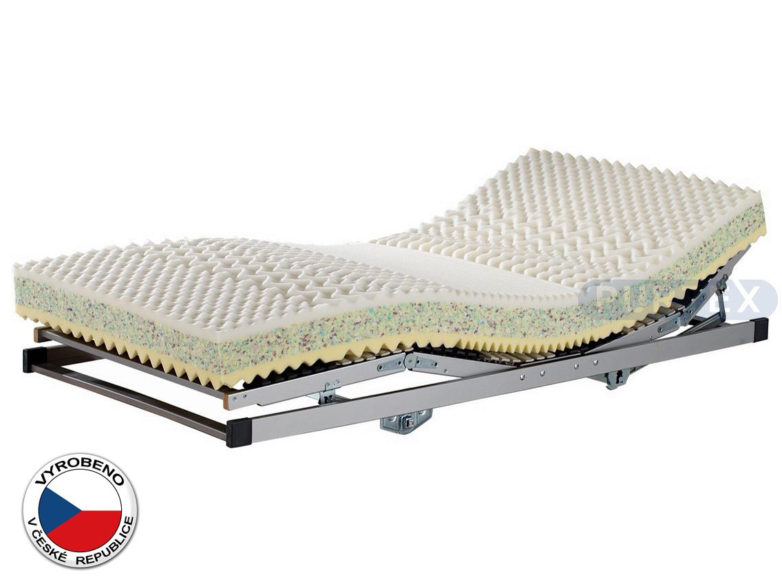 Pěnová matrace - Purtex - Olivia Viscofoam - 200x80 cm (T3/T4). Elastická, oboustranní odolná matrace s dlouhou životností, sedm zónovou profilací, která zajišťuje uvolnění svalstva během spánku.