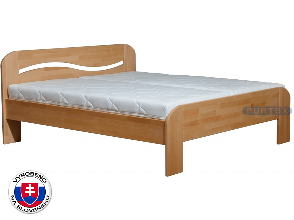 Manželská postel 180 cm - Purtex - Ela (masiv)