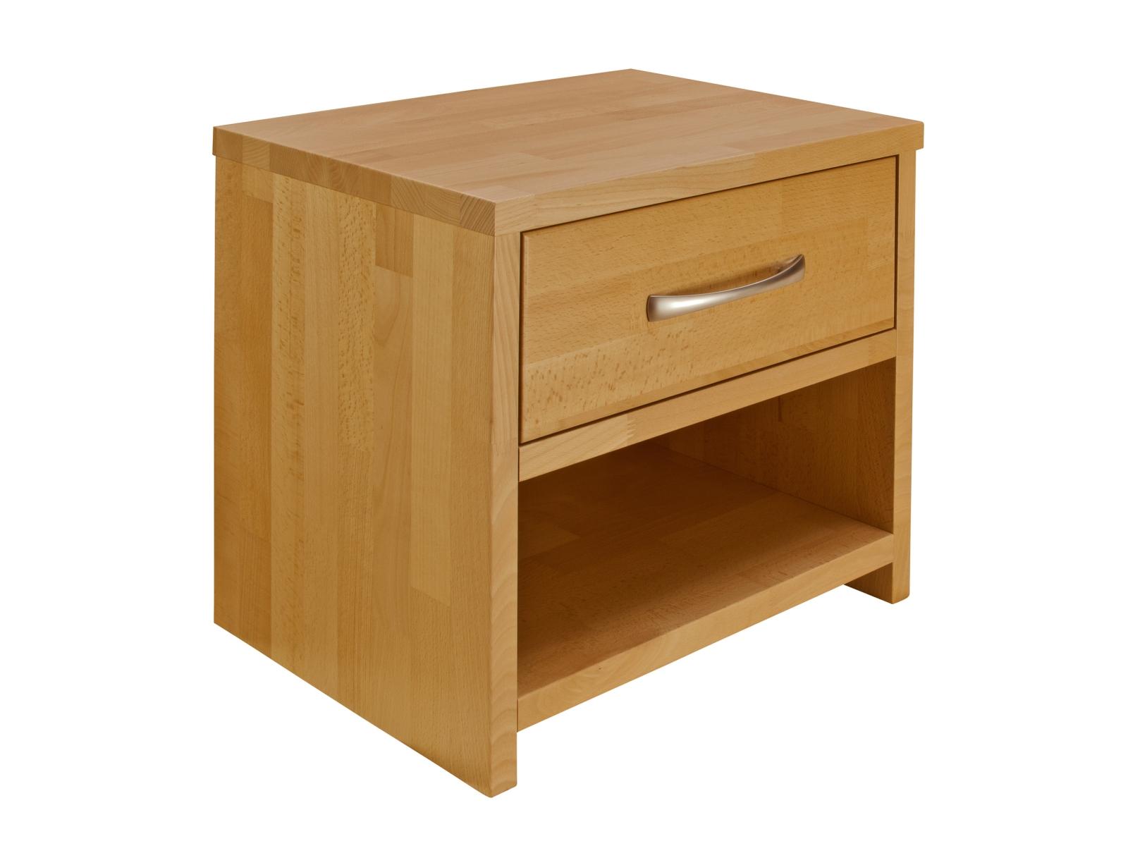 Noční stolek - Purtex - Masiv se zásuvkou (masiv)