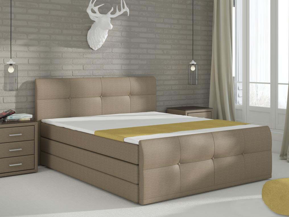Manželská postel Boxspring 180 cm - Renar - Palermo (s matrací a úl. prostorem)