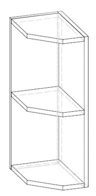 Horní kuchyňská skříňka, rohová - Renar - Livia - LV-08