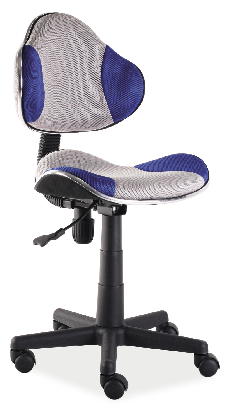 Kancelářské křeslo - Signal - Q-G2 (modrá + šedá)