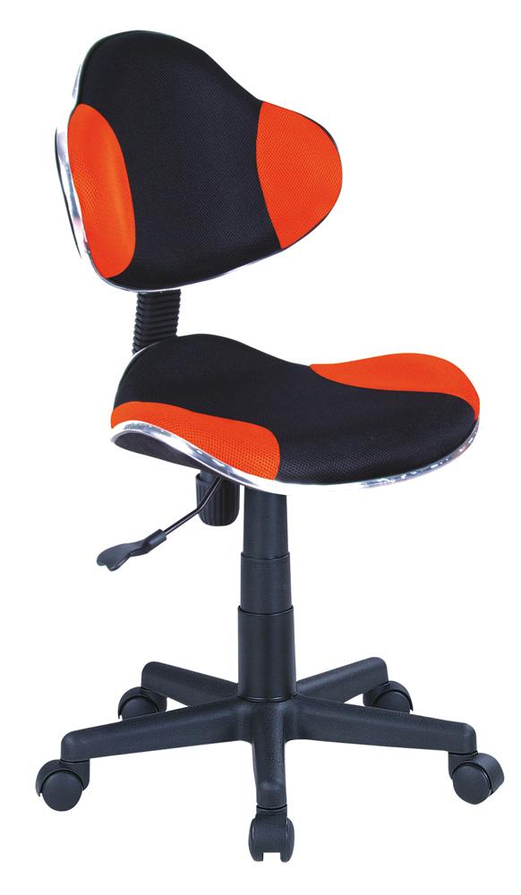 Detská židle - Signal - Q-G2 látka, oranžovo-černá