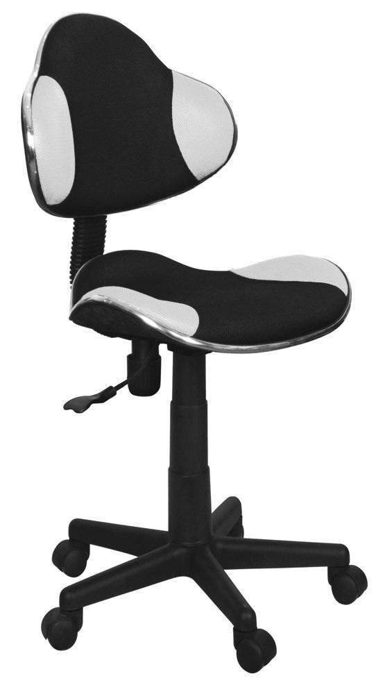 Detská židle - Signal - Q-G2 látka, černo-bílá