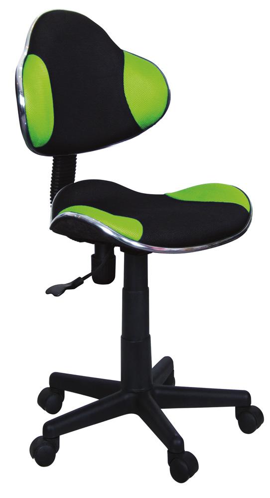 Detská židle - Signal - Q-G2 látka, černo-zelená