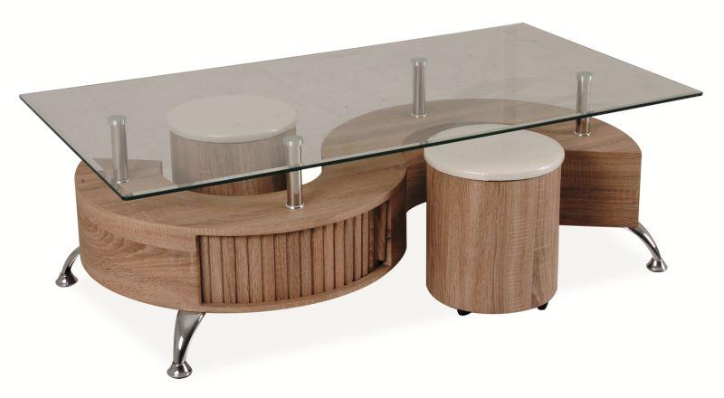Konferenční stolek - Signal - Cubic (dub sonoma)