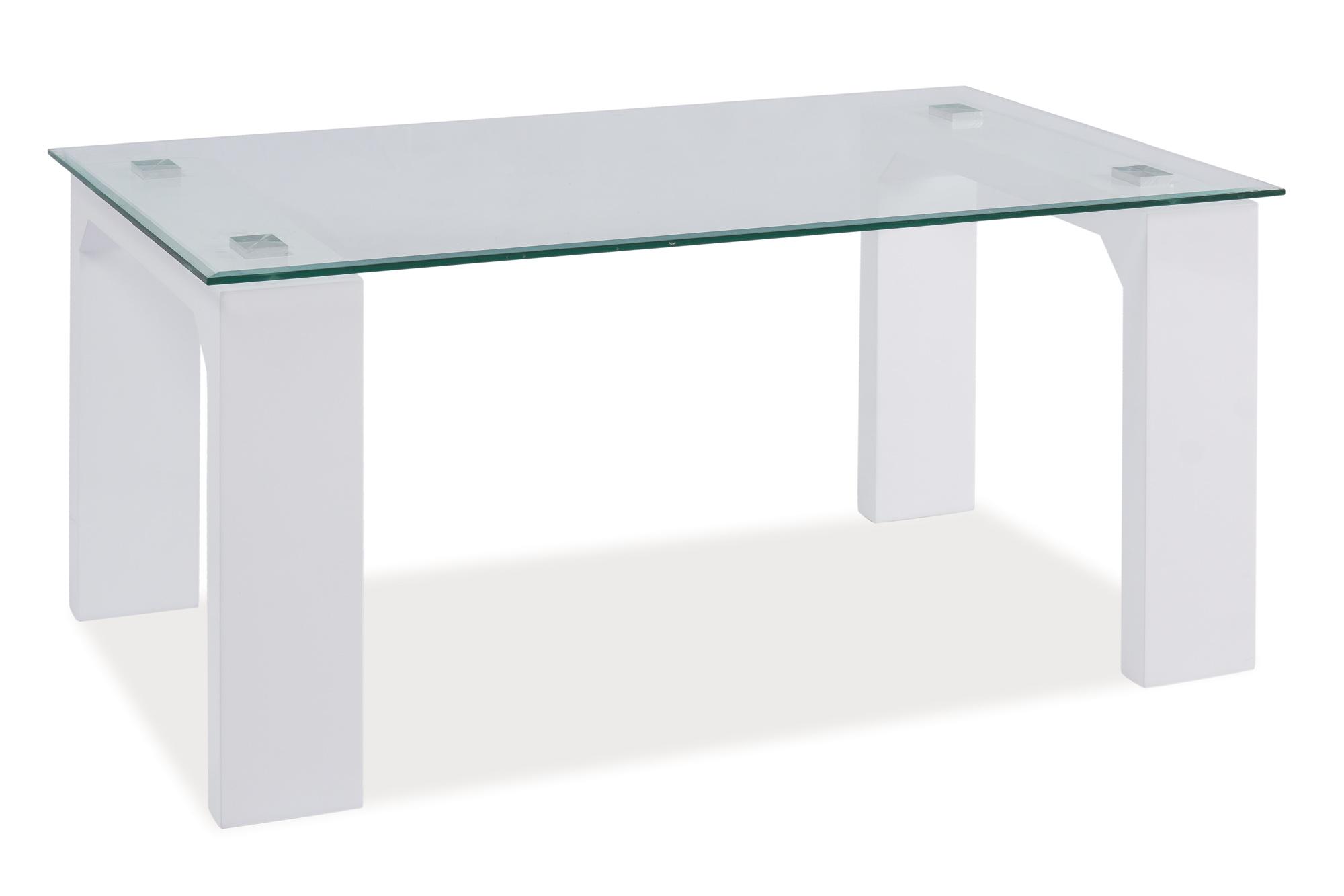 Konferenční stolek - Signal - Scarlet (lesk vysoký bílý)