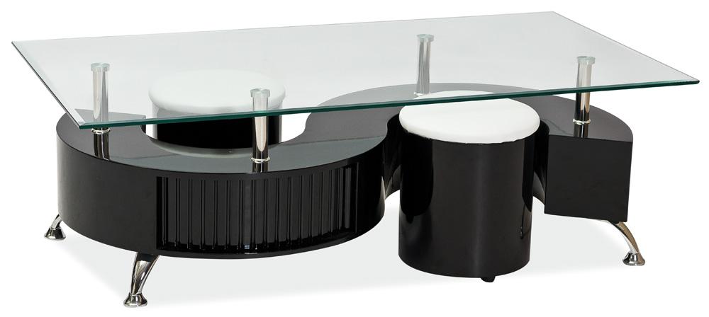 Konferenční stolek - Signal - Cubic černý lakovaný