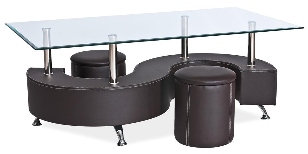 Konferenční stolek - Signal - Hugo hnědý