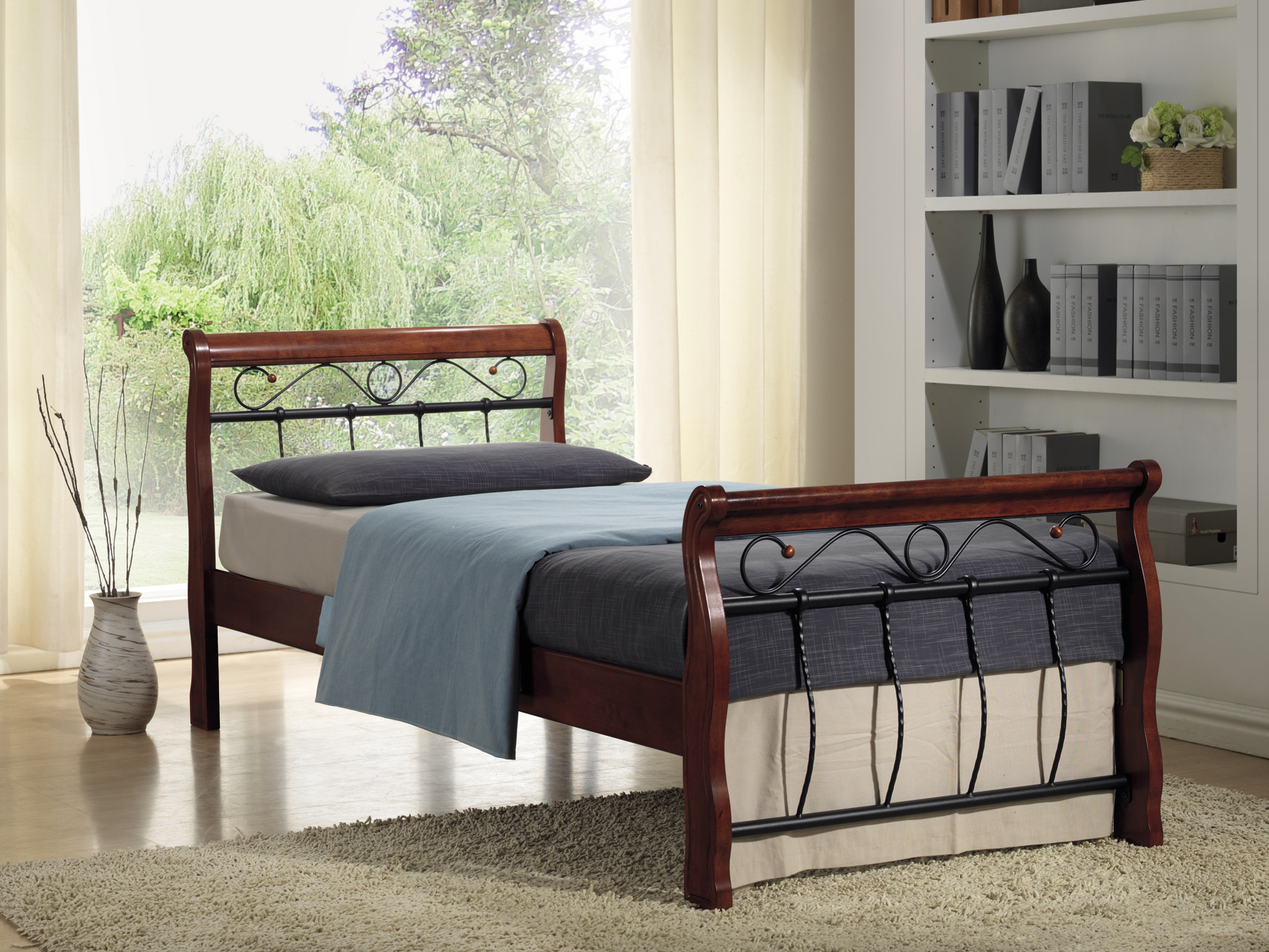 Jednolůžková postel 120 cm - Signal - Venecja (s roštem)