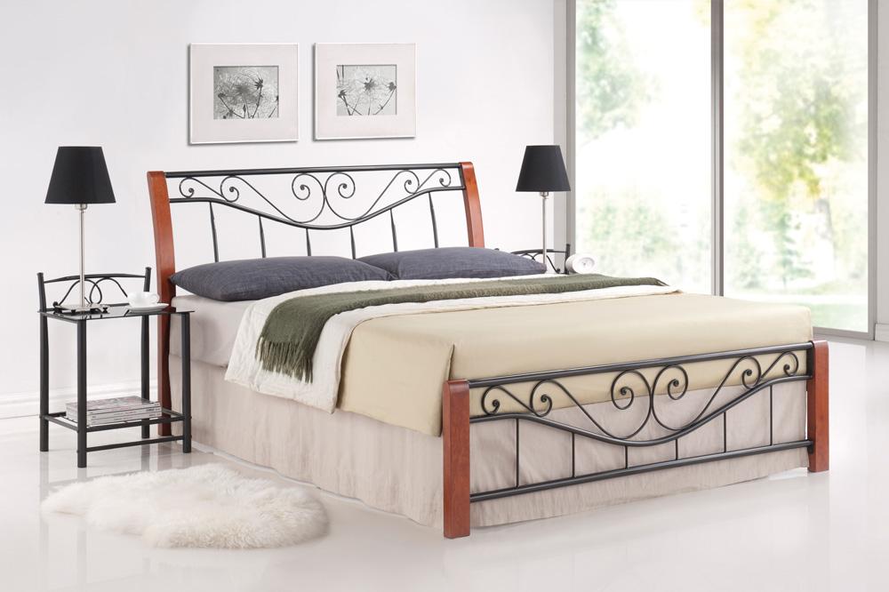 Manželská postel 160 cm - Signal - Parma A (s roštem)