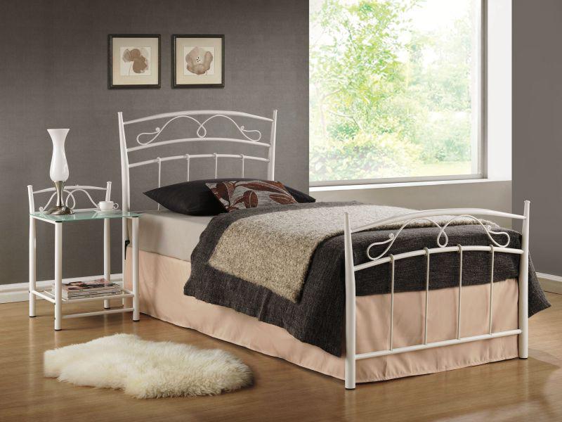 Jednolůžková postel 90 cm - Signal - Siena bílá (s roštem)