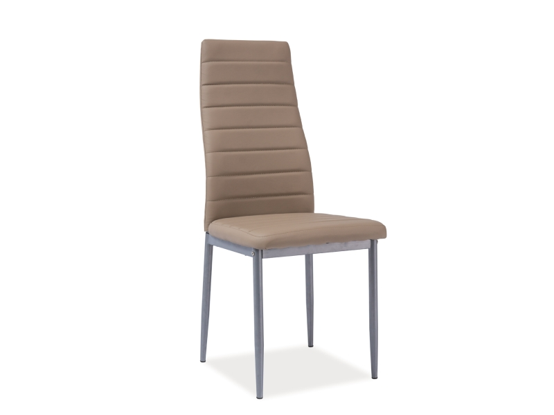 Jídelní židle - Signal - H-261 alu (ekokůže béžová)