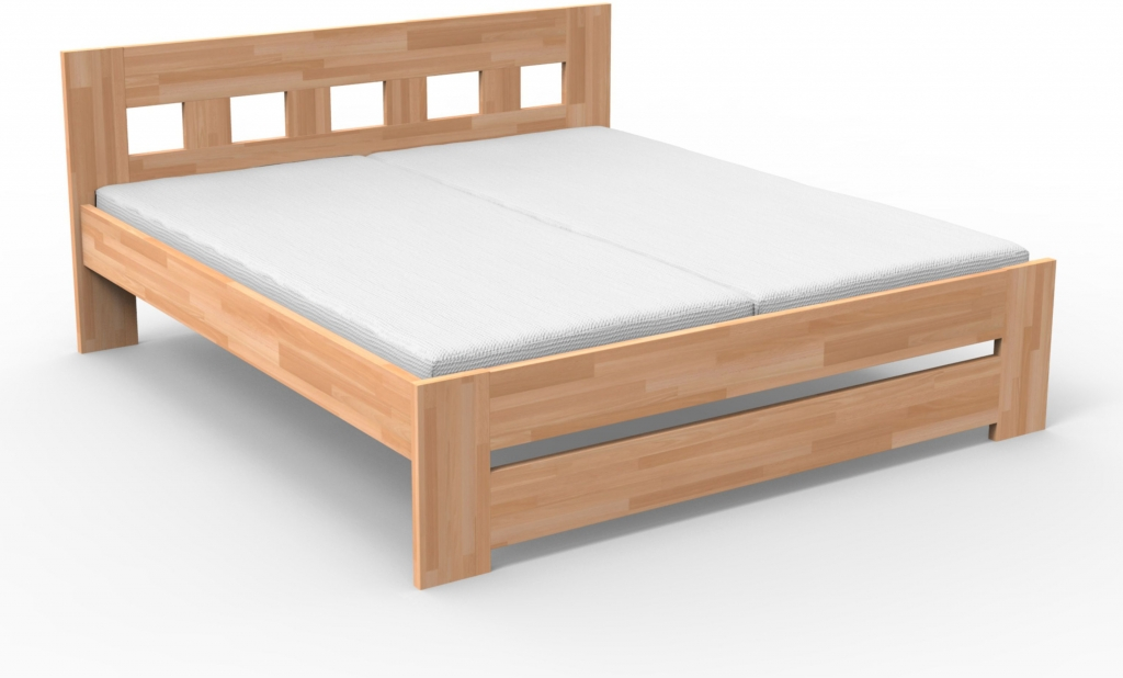 Manželská postel 160 cm - Styler - Jana (masiv buk)