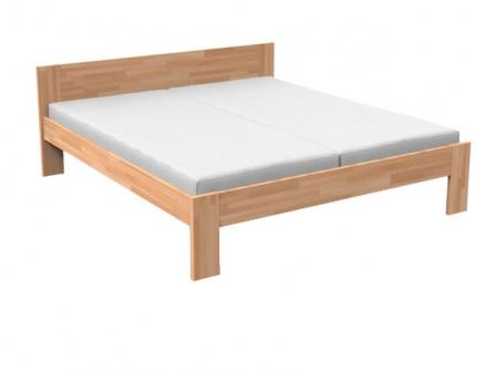 Manželská postel 160 cm - Styler - Natália (masiv buk)