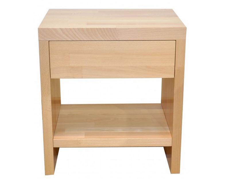 Noční stolek z masivu se zásuvkou - Styler - Lucia ZP