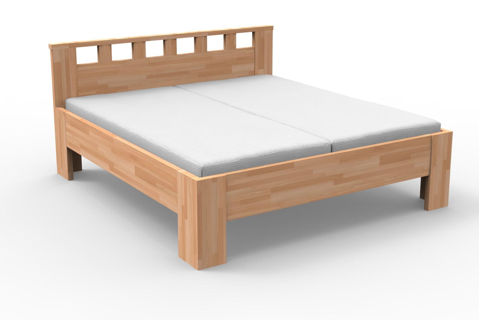 Manželská postel 140 cm - Styler - Lucia