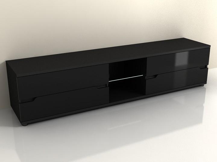 TV stolek/skříňka - Tempo Kondela - Adonis - AS 30 (černá) (s osvětlením)