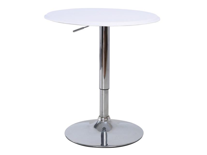 Barový stůl - Tempo Kondela - Brany (bílá + chrom)