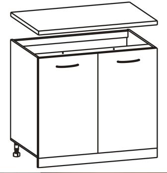 Spodní kuchyňská skříňka - Tempo Kondela - Cyra New - D-60