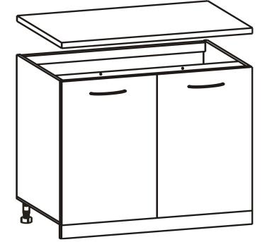 Spodní kuchyňská skříňka - Tempo Kondela - Cyra New - D-80