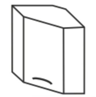 Horní kuchyňská skříňka, rohová - Tempo Kondela - Cyra New - GN-60