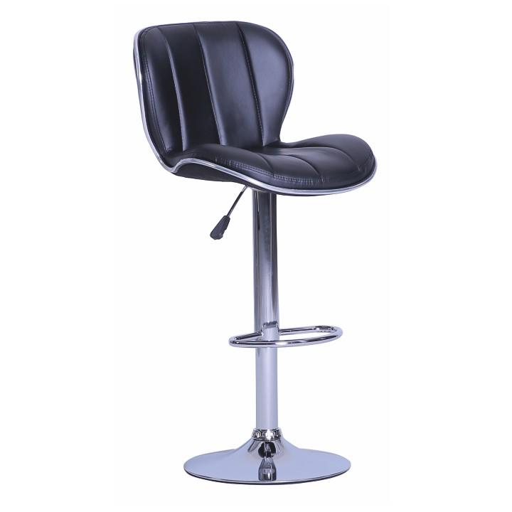 Barová židle - Tempo Kondela - Duena (ekokůže černá + chrom)