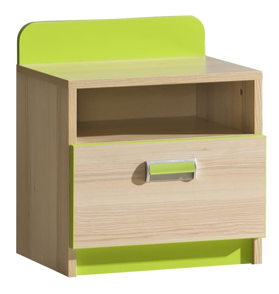 Noční stolek - Tempo Kondela - Ego - L12 zelená