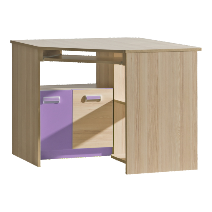 Rohový PC stolek - Tempo Kondela - Echo - L11 fialová