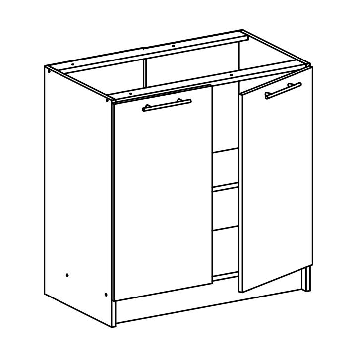 Dolní kuchyňská skříňka - Tempo Kondela - Fabiana - S-80