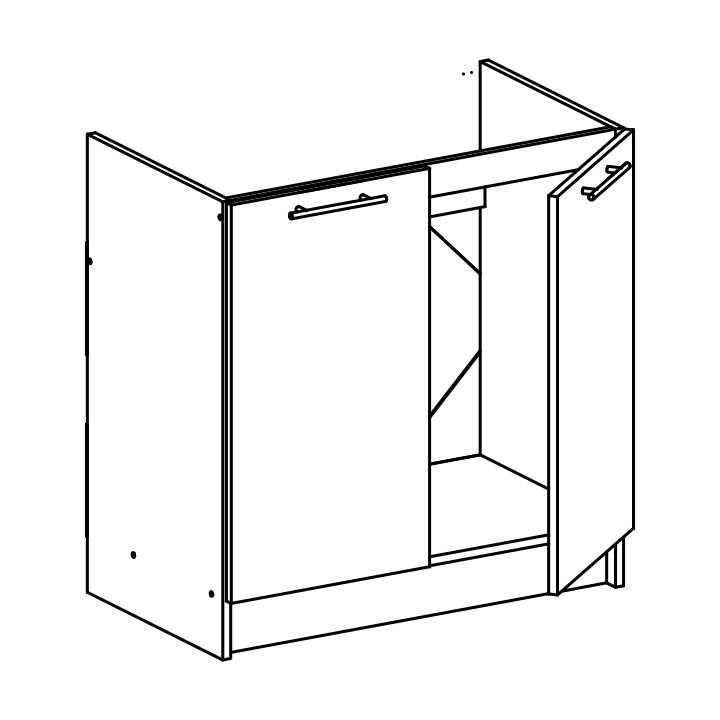 Dolní kuchyňská skříňka pod dřez - Tempo Kondela - Fabiana - S-80ZL