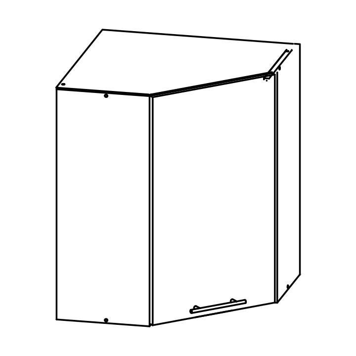 Horní kuchyňská skříňka, rohová - Tempo Kondela - Fabiana - W-60M