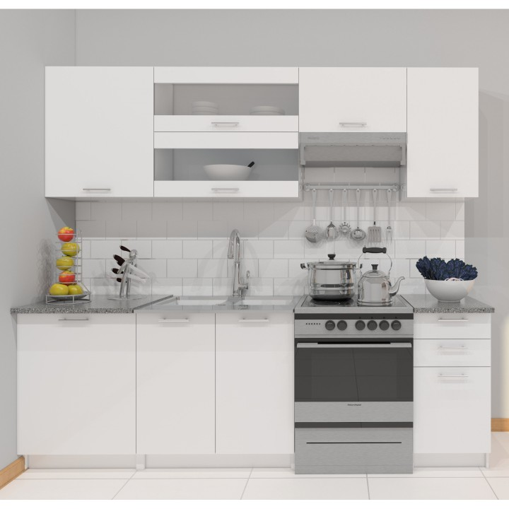 Kuchyně - Tempo Kondela - Fabiana 240 cm bílá