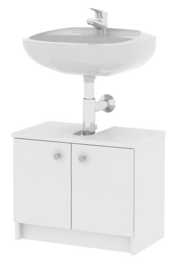 Koupelnová skříňka pod umyvadlo - Tempo Kondela - Galena - Si02 2D bílá