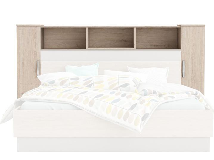 Čelo postele - Tempo Kondela - Graphic (dub arizona + šedá)
