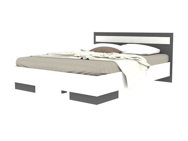 Manželská postel 160 cm - Tempo Kondela - Greyline (grafit + bílá)