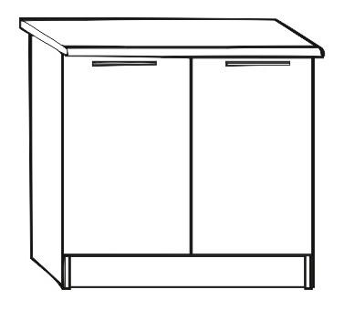 Dolní kuchyňská skříňka - Tempo Kondela - Irys New - D-80